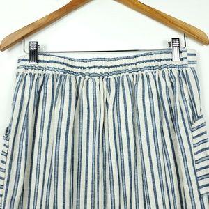 Tahari Skirts - Tahari Striped Button Down Coastal Straight Skirt